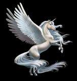 Unicorno isolato su bianco Immagine Stock Libera da Diritti