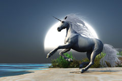 Unicorno Midnight Fotografia Stock