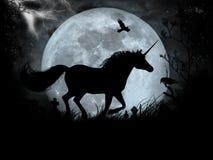 Unicorno nero Fotografie Stock Libere da Diritti