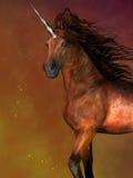 Unicorno pezzato della baia illustrazione di stock