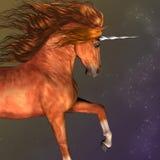 Unicorno pezzato della castagna illustrazione vettoriale