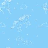 Unicorno senza cuciture Fotografie Stock Libere da Diritti