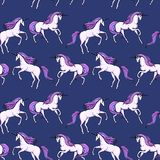 Unicorno senza cuciture Fotografia Stock