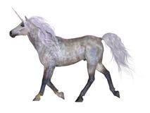 Unicorno su bianco Fotografie Stock Libere da Diritti