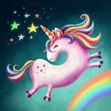 Unicorno sveglio Immagini Stock