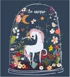unicorno sveglio del fumetto royalty illustrazione gratis