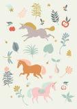 unicorns Royalty-vrije Stock Afbeelding