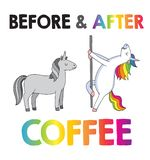 Unicorns - Before And After Coffee Stock Image