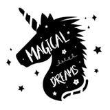 Unicorns Horse Cute Dream Fantasy Cartoon Character Vector Illustration Royalty Free Stock Photos