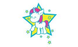 Unicorns. Illustration of unicorns be happy Royalty Free Stock Photo