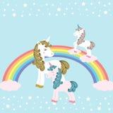 Unicorns -  illustration Stock Photos