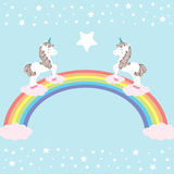 Unicorns -  illustration Royalty Free Stock Image