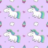 Unicorns and rainbows Stock Photo