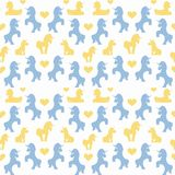 Unicorns seamless pattern Stock Images
