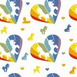 Unicorns seamless pattern Royalty Free Stock Photography