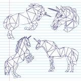 Unicornset Стоковые Изображения RF