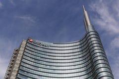 Unicredit塔在米兰,意大利 免版税库存照片