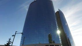 Unicredit塔, Gael Aulenti广场,米兰,意大利 股票视频