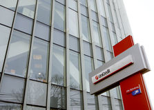 Unicredit Bank headquarters in Bucharest stock image