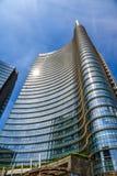 Unicredit-Bankhauptsitze in Mailand, Italien stockfotografie