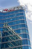 UniCredit Group banking company logo on headquarters building Stock Photo