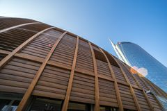 Unicredit Pavillion, Milan, Italy stock images