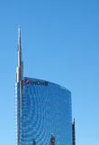 Unicredit Tower in Milan Royalty Free Stock Photos