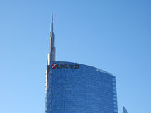 Unicredit Tower in Milan Royalty Free Stock Image