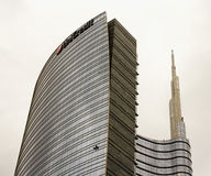 Unicredit tower in Milan Stock Photo