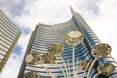 Unicredit tower, Milan, Italy Royalty Free Stock Photos