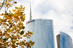 Unicredit tower, Milan, Italy Royalty Free Stock Photography