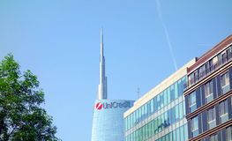 Unicredit Tower. The Unicredit Tower (Torre Unicredit) is a skyscraper in Milan, Italy Royalty Free Stock Photos