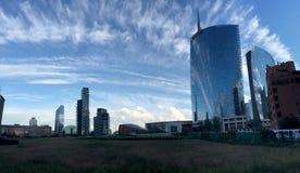 Unicredit-Turm, Marktplatz Gael Aulenti, Mailand, Italien 15/04/2016 Stockfotografie