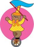 unicycle медведя иллюстрация штока