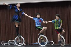 Unicycle Champions Stock Photography