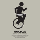 Unicycle Graphic Sign Stock Photography