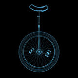 Unicycle (transparentes azuis do raio X 3D) Imagem de Stock Royalty Free