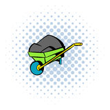 Unicycle trolley icon, comics style Stock Photos