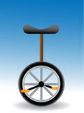 Unicycle - Vector. Unicycle - simple vector illustration of a  with black seat Royalty Free Stock Images