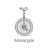 Unicycle Vector Illustration Royalty Free Stock Images