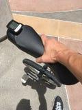 Unicycle w ręce Zdjęcia Stock