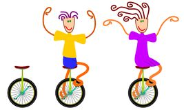 Unicycling Stock Image