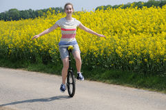 Unicyclist Royalty Free Stock Image