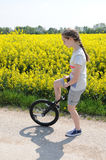 Unicyclist Stock Images