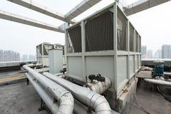 Unidad al aire libre del aire acondicionado central Fotos de archivo
