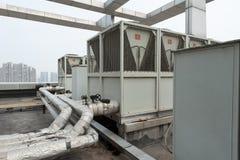 Unidad al aire libre del aire acondicionado central Fotografía de archivo