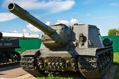 Unidad automotora SU-152 del tanque anti soviético Fotografía de archivo libre de regalías