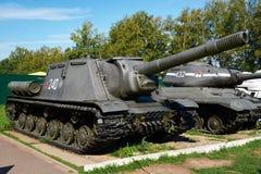 Unidad automotora SU-152 del tanque anti soviético imagen de archivo libre de regalías