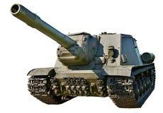 Unidad automotora SU-152 del tanque anti soviético Foto de archivo