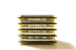 Unidad central de proceso para el ordenador en un fondo ligero imágenes de archivo libres de regalías